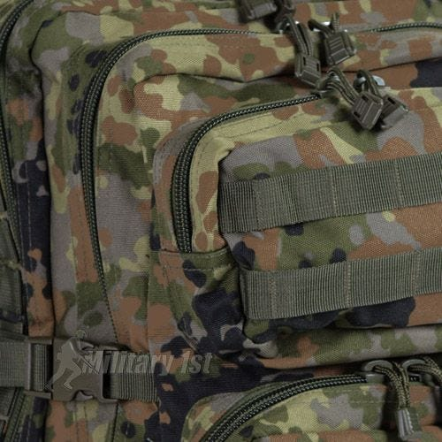 Mil-Tec Sac à dos US Assault MOLLE grande taille Flecktarn