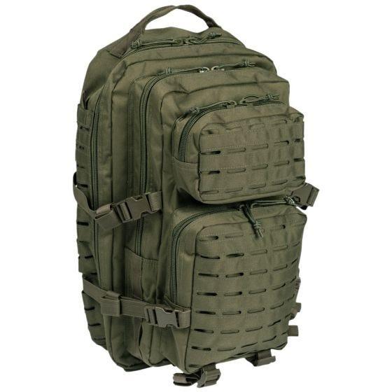 Mil-Tec Sac à dos US Assault découpé au laser grande taille vert olive