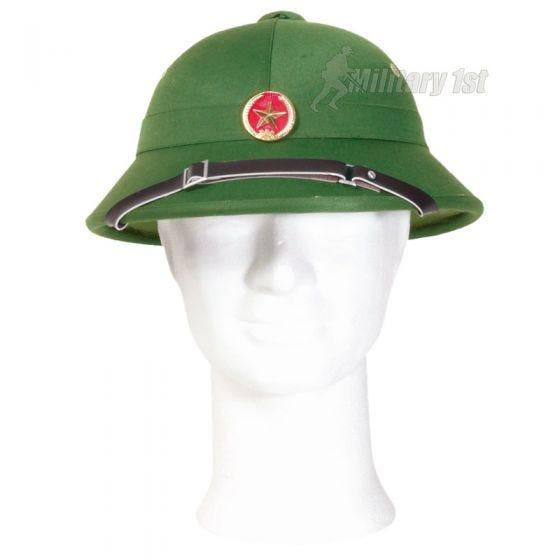 Mil-Tec Casque tropical Viet Cong avec badge
