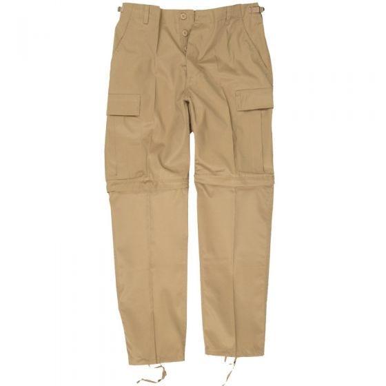 Mil-Tec Pantalon de combat zippé kaki