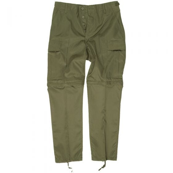 Mil-Tec Pantalon de combat zippé vert olive