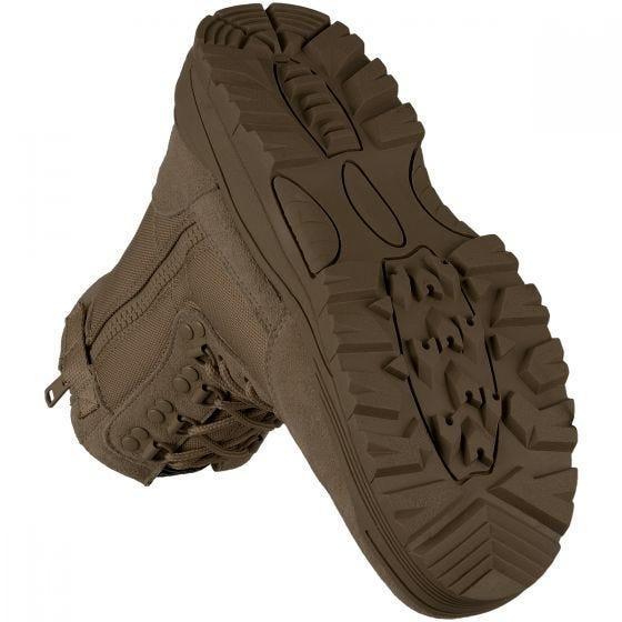 Mil-Tec Bottes Rangers à zip sur le côté marron