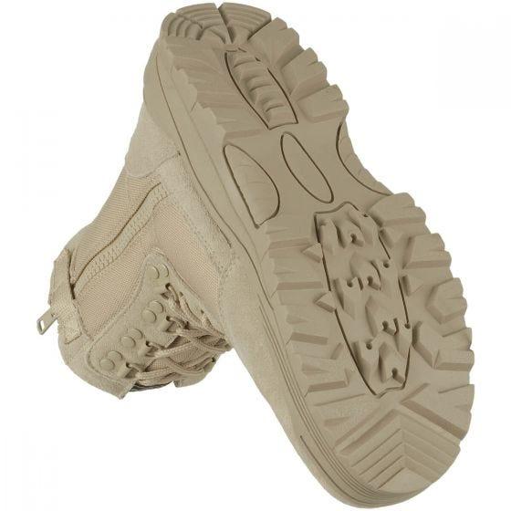 Mil-Tec Bottes Rangers à zip sur le côté kaki