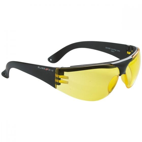 Swiss Eye Lunettes de protection Outbreak à monture noire/verres jaunes