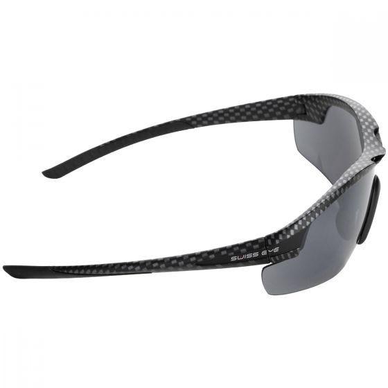 Swiss Eye Lunettes de soleil Novena avec 3 types de verres et monture Carbon Matt Black