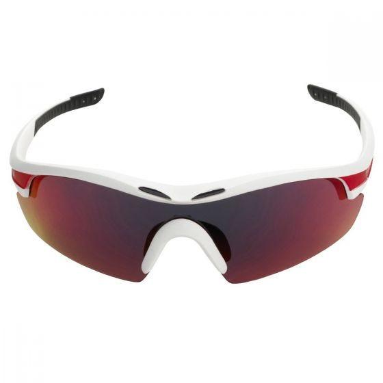 Swiss Eye Lunettes de soleil Novena avec 3 types de verres et monture blanche mate/rouge