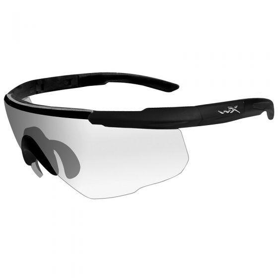 Wiley X Lunettes Saber Advanced avec verres transparents et monture noire mate