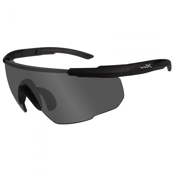 Wiley X Lunettes Saber Advanced avec verres gris fumés et monture noire