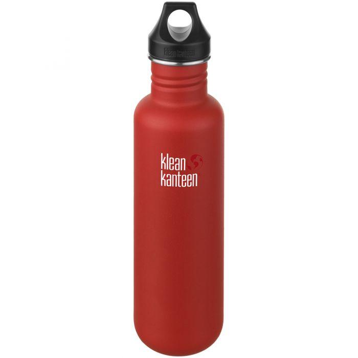 Klean Kanteen Gourde Classic 800 ml en acier inoxydable avec bouchon à anneau Post Box Red