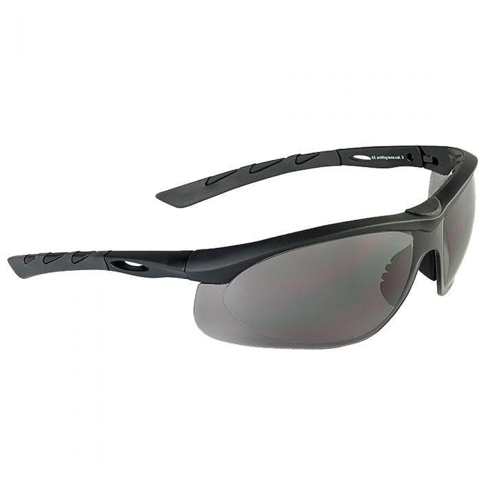 Swiss Eye Lunettes de soleil Lancer avec verres fumés/monture en caoutchouc noir