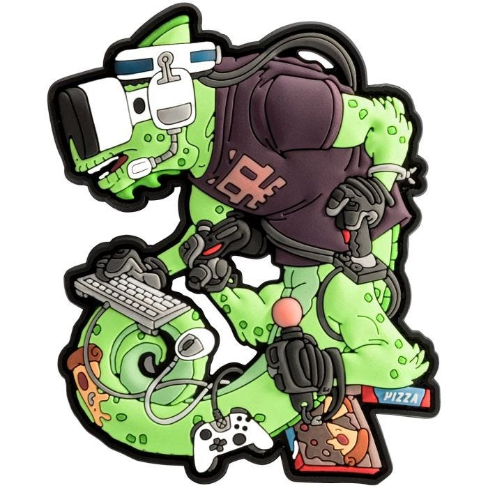 Patchlab Chameleon Gamer Operator Patch Green