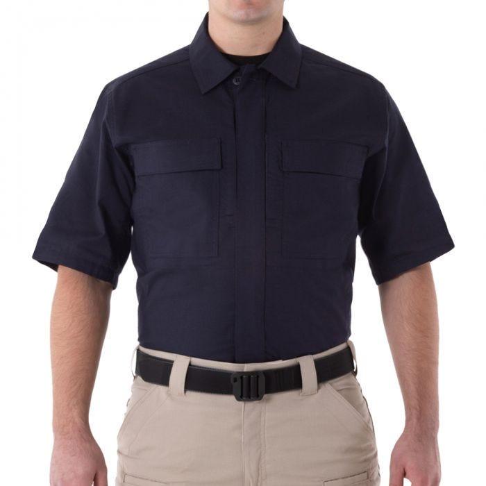 First Tactical Men's V2 Short Sleeve BDU Shirt Midnight Navy