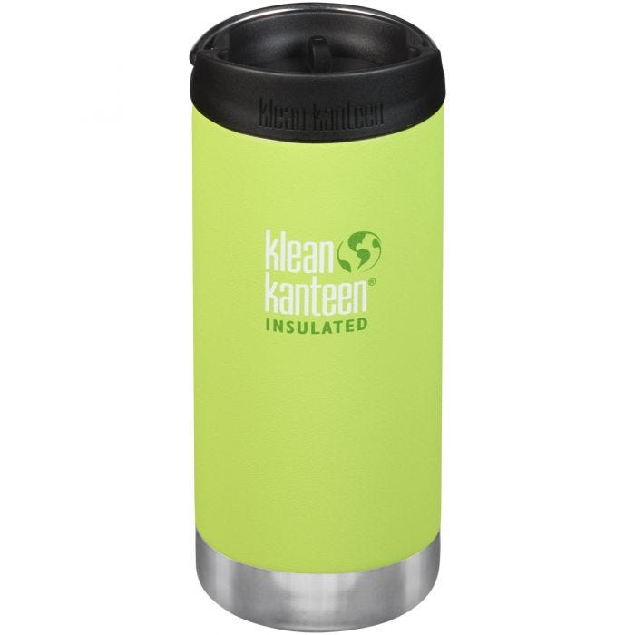 Klean Kanteen TKWide 355ml Insulated Bottle Cafe Cap Juicy Pear