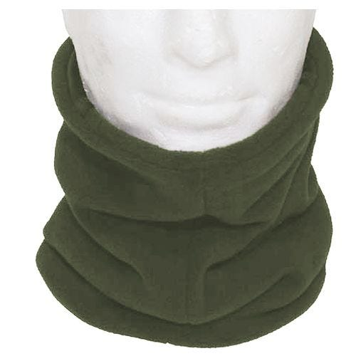 MFH Écharpe tube en polaire avec section cagoule OD Green