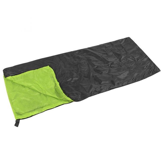 Yellowstone Essential Envelope Sleeping Bag Black/Lime