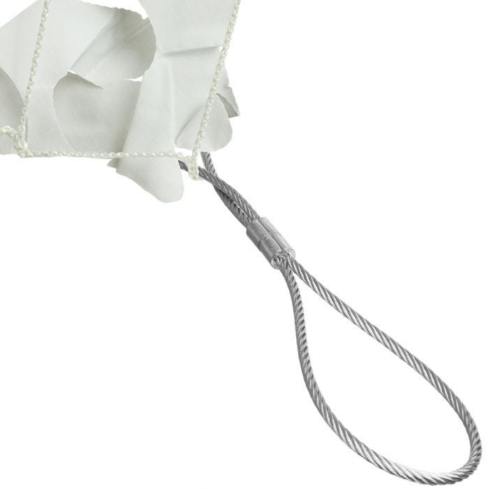 CamoSystems Shade Sail Net Broadleaf 3x6 White