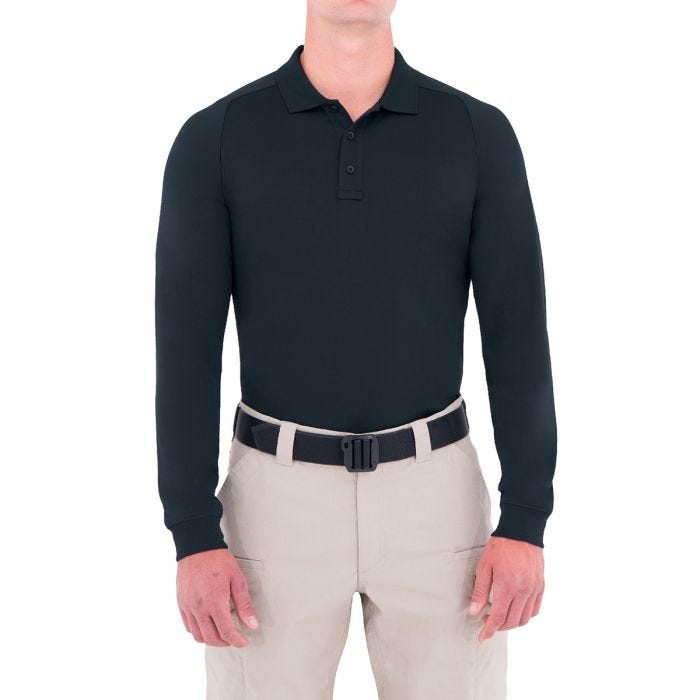 First Tactical Polo à manches longues pour homme Performance Midnight Navy