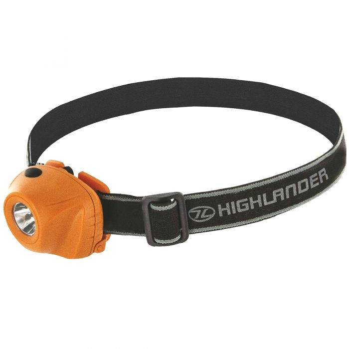 Highlander Lampe frontale Beam LED 1 W orange/noire