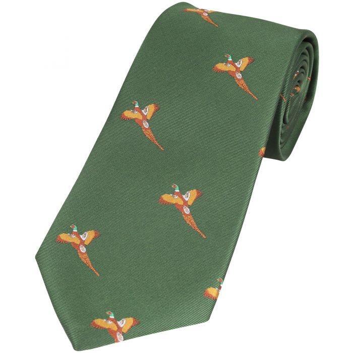 Jack Pyke Cravate à motifs faisans verte