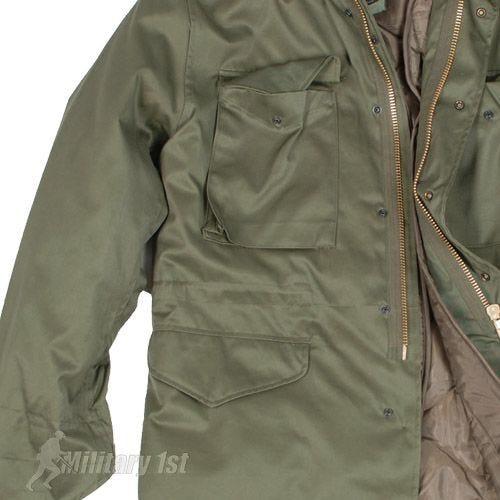 Mil-Tec Veste M65 style classique américain vert olive