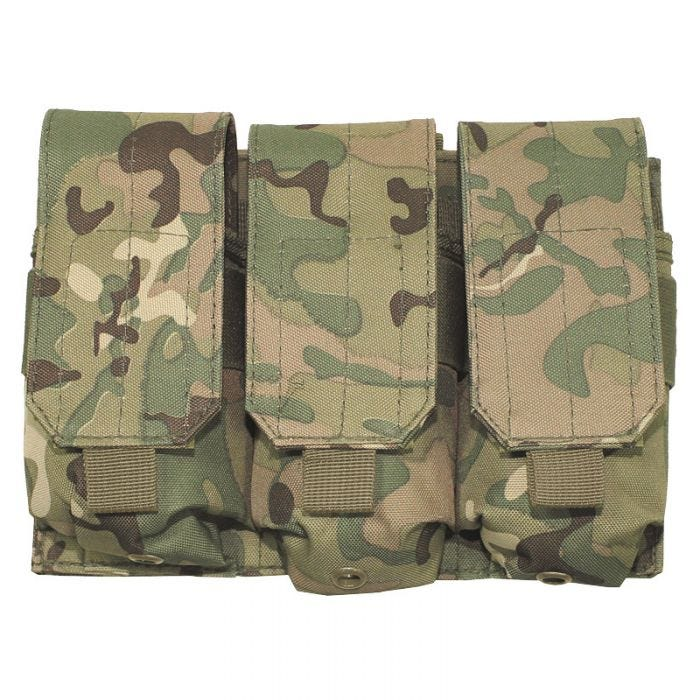 MFH Porte-chargeur triple M4/M16 MOLLE Operation Camo