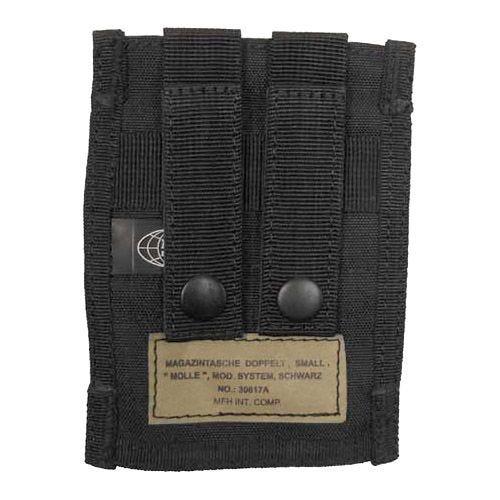 MFH Petit porte-chargeur double 9 mm MOLLE noir
