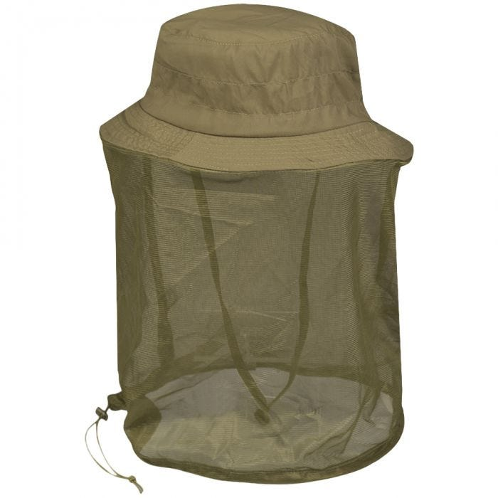 Mil-Tec Boonie Hat with Mosquito Net Coyote