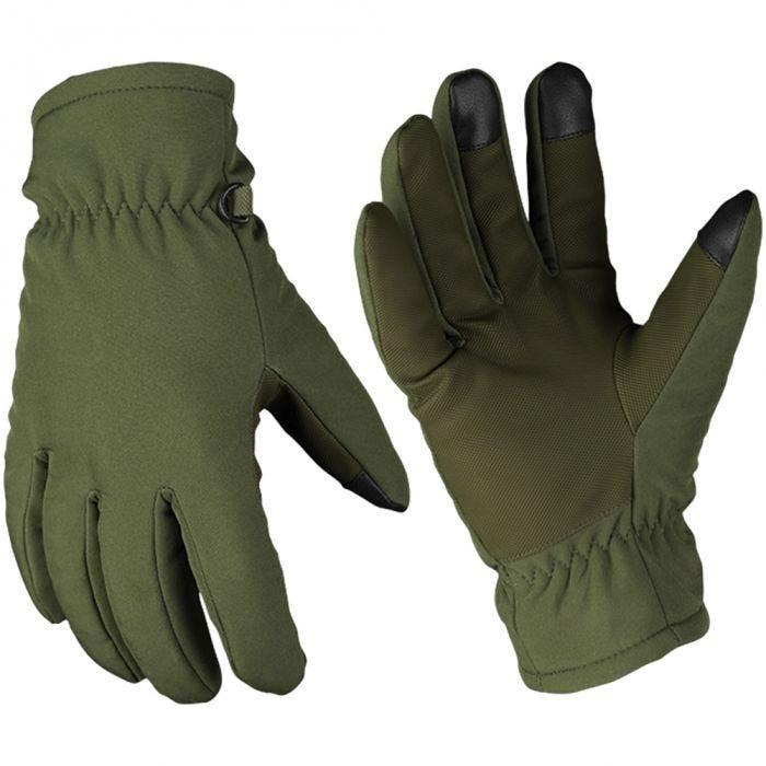 Mil-Tec Gants Softshell Thinsulate vert olive