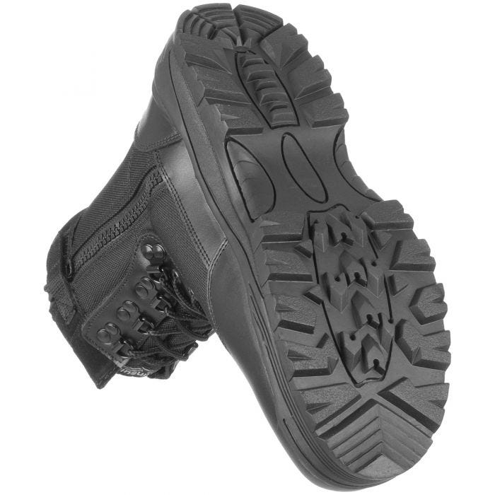 Mil-Tec Bottes Rangers à zip sur le côté noires