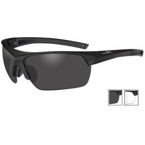 Wiley X Lunettes Guard Advanced avec verres gris fumé + transparents et monture noire mate
