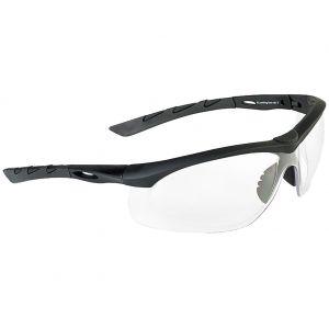 Swiss Eye Lunettes de soleil Lancer avec verres transparents/monture en caoutchouc noir