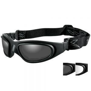 Wiley X Masque SG-1 avec verres couleur gris fumé + transparents et monture noire mate