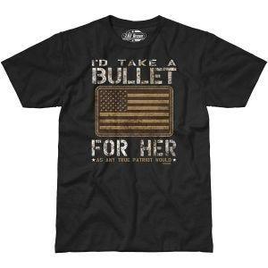7.62 Design T-shirt Bullet For Her noir