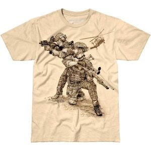 7.62 Design T-shirt Compromised Extract Sand