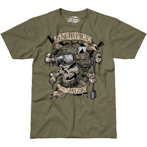 7.62 Design T-shirt Sacrifice & Valor Military Green