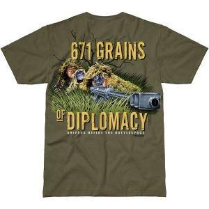 7.62 T-Shirt de conception d'équipe de tireur d'élite militaire de couleur verte