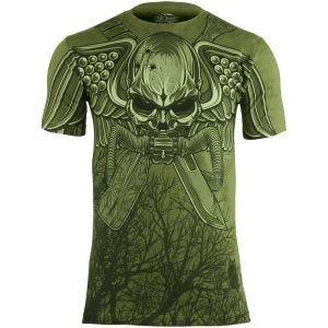 7.62 Design T-shirt USMC Recon Swift Silent Deadly Military Green