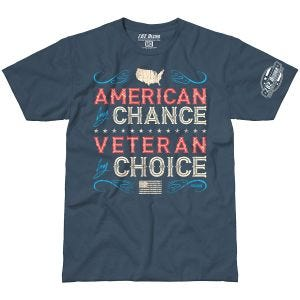 7.62 Design T-shirt Veteran By Choice American Indigo