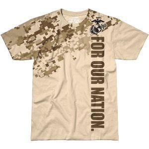 7.62 Design T-shirt USMC For Our Nation Sand