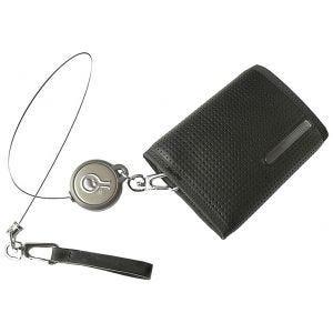 Civilian Portefeuille antivol avec câble rétractable Rewind Duo noir