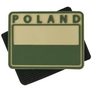 Helikon Lot de 2 écussons avec drapeau de la Pologne (couleurs discrètes) et inscription Poland kaki