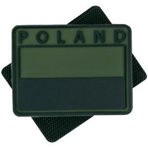 Helikon Lot de 2 écussons avec drapeau de la Pologne (couleurs discrètes) et inscription Poland Olive Green