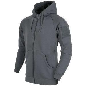 Helikon Sweatshirt à capuche Urban Tactical léger à fermeture Éclair gris