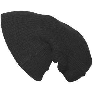 Pro Company Bonnet tricoté très long noir