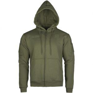 Mil-Tec Sweatshirt à capuche zippé Ranger Green