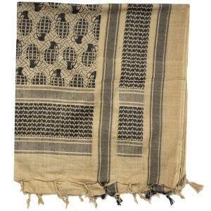 Mil-Tec Écharpe Shemagh à motifs ananas Coyote/noire