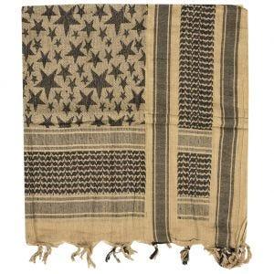 Mil-Tec Écharpe Shemagh à motifs étoiles Coyote/noire