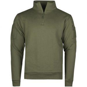 Mil-Tec Sweatshirt à fermeture Éclair tactique Ranger Green