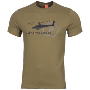 Pentagon T-shirt Ageron Helicopter motif hélicoptère Coyote
