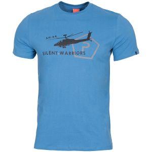 Pentagon T-shirt Ageron Helicopter motif hélicoptère Pacific Blue